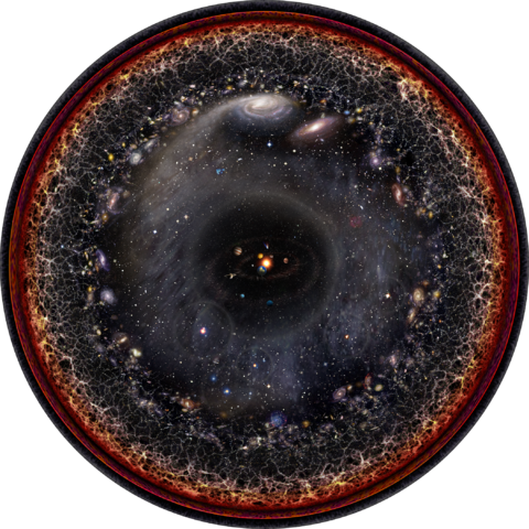 Observable Universe by Pablo Carlos Budassi