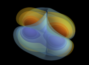 Simulation of the binary black hole merger GW150914.