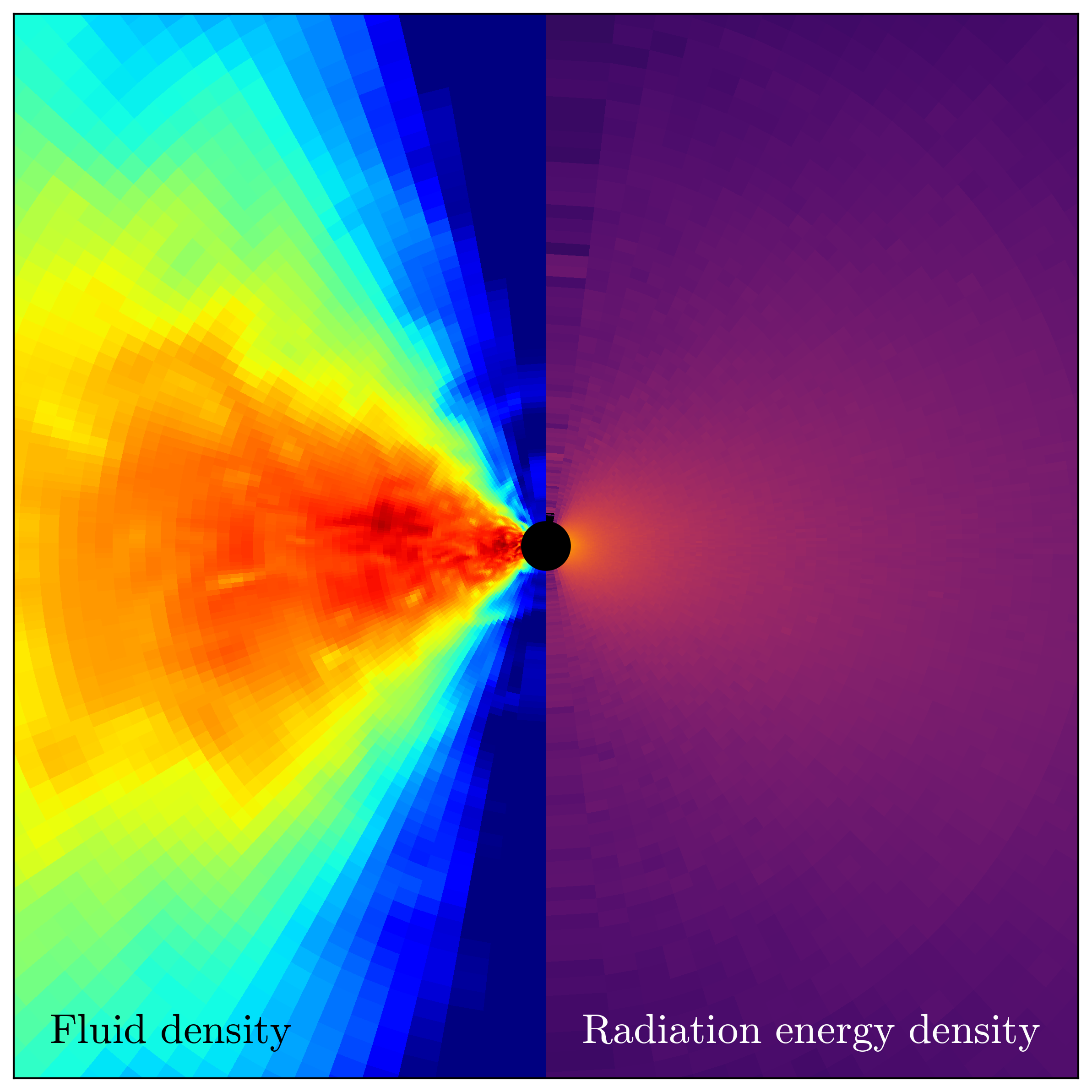 Simulation of a disk around a black hole.